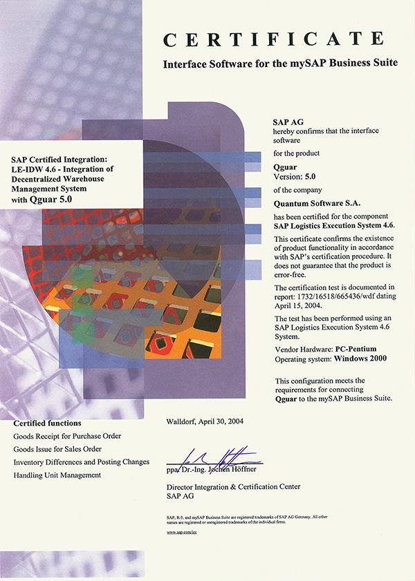 Certyfikowany Interfejs SAP