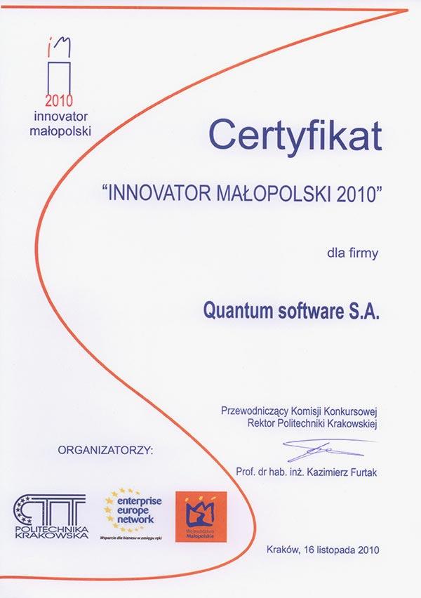Innowator Małopolski 2010