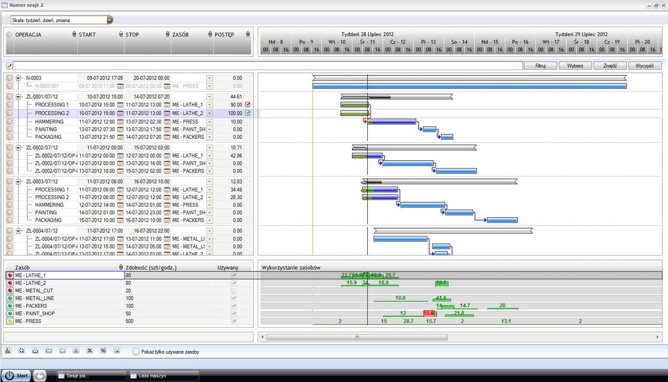 APS – Automatyczne harmonogramowanie